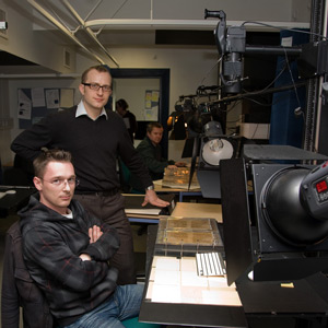 Manuscript digitisation team at Cambridge University Library